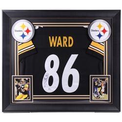 Hines Ward Signed 31x36 Custom Framed Jersey (Beckett COA)
