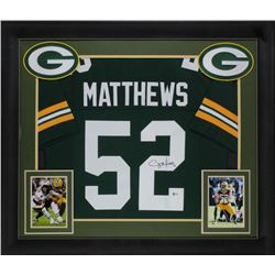 Clay Matthews Signed 32x37 Custom Framed Jersey Display (Beckett COA)
