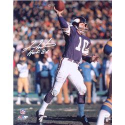 "Fran Tarkenton Signed Minnesota Vikings 16x20 Photo Inscribed ""HOF 86"" (JSA COA)"