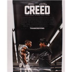 "Sylvester Stallone  Michael B. Jordan Signed ""Creed"" 27x40 Movie Poster (PSA Hologram)"