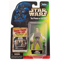 """John Hollis Signed """"Star Wars The Power of the Force"""" 1995 Kenner Action Figure Inscribed """"Lobot"""" (B"""