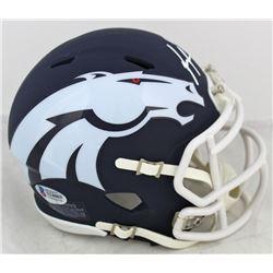 Phillip Lindsay Signed Denver Broncos AMP Alternate Speed Mini Helmet (Beckett COA)