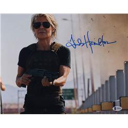 "Linda Hamilton Signed ""Terminator: Dark Fate"" 11x14 Photo (Beckett Hologram)"