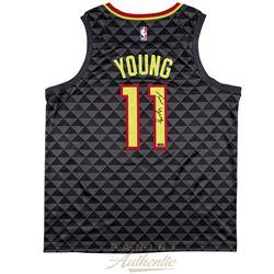 Trae Young Signed Hawks Jersey (Panini COA)