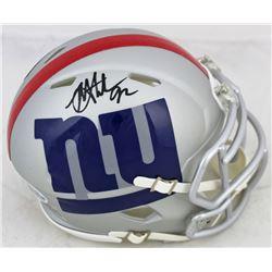 Michael Strahan Signed Giants AMP Alternate Speed Mini Helmet (Beckett COA)