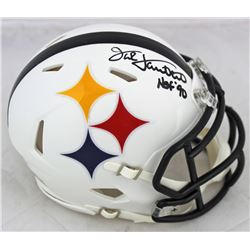 "Jack Lambert Signed Pittsburgh Steelers AMP Alternate Speed Mini Helmet Inscribed ""HOF '90"" (Beckett"