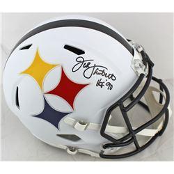 "Jack Lambert Signed Pittsburgh Steelers AMP Alternate Speed Full Size Helmet Inscribed ""HOF '90"" (Be"