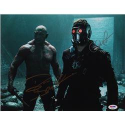 "Chris Pratt  Dave Bautista Signed ""Avengers: Infinity War"" 11x14 Photo (PSA Hologram)"