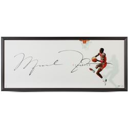 "Michael Jordan Signed Bulls ""The Show"" 20x46 Custom Framed Print (UDA COA)"