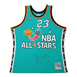 Michael Jordan Signed NBA All Stars LE Jerey (UDA COA)