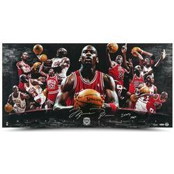 "Michael Jordan Signed Bulls 18x36 LE Photo Inscribed ""2009 HOF"" (UDA COA)"