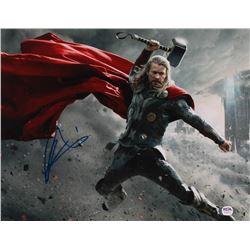 "Chris Hemsworth Signed ""The Avengers"" 11x14 Photo (PSA Hologram)"