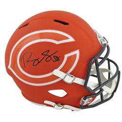 Roquan Smith Signed Bears Full-Size AMP Alternate Speed Helmet (Beckett COA)