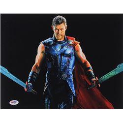 "Chris Hemsworth Signed ""Thor: Ragnarok"" 11x14 Photo (PSA Hologram)"