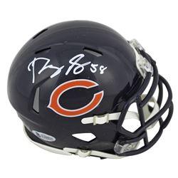 Roquan Smith Signed Bears Speed Mini Helmet (Beckett COA)