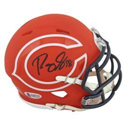 Roquan Smith Signed Bears AMP Alternate Speed Mini Helmet (Beckett COA)