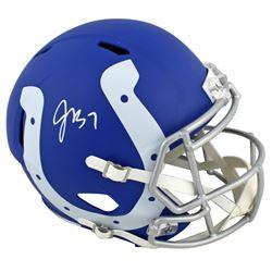 Jacoby Brissett Signed Colts Full-Size AMP Alternate Speed Helmet (JSA COA)