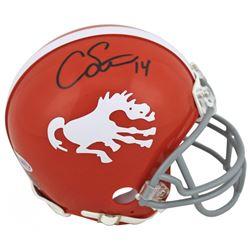 Courtland Sutton Signed Broncos Throwback Mini Helmet (Beckett COA)