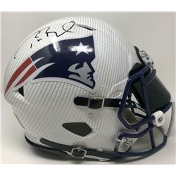 Tom Brady Signed Patriots Custom Hydro Dipped Full-Size Authentic On-Field Speed Helmet (Tristar Hol