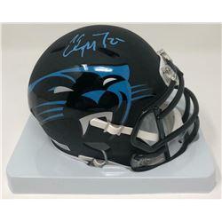 Christian McCaffrey Signed Panthers AMP Speed Mini Helmet (Fanatics Hologram)