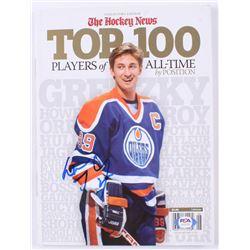Wayne Gretzky Signed 2011 The Hockey News Top 100 Magazine (PSA Hologram)