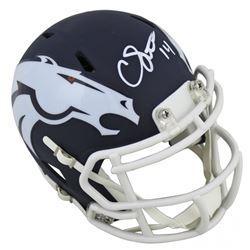 Courtland Sutton Signed Broncos AMP Alternate Speed Mini Helmet (Beckett COA)
