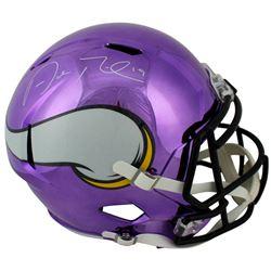 Adam Thielen Signed Vikings Chrome Speed Full-Size Helmet (Beckett COA)