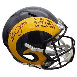 "Steven Jackson Signed Rams Full-Size Speed Helmet Inscribed ""3x Pro Bowl"", ""11,438 Rush Yds"",  ""69 R"
