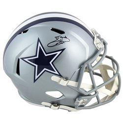 Emmitt Smith Signed Cowboys Full-Size Speed Helmet (Beckett COA  Prova Hologram)