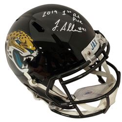 "Josh Allen Signed Jaguars Full-Size Speed Helmet Inscribed ""2019 1st Rd Pick""11 (Beckett COA)"