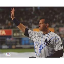 Alex Rodriguez Signed Yankees 8x10 Photo (PSA COA)