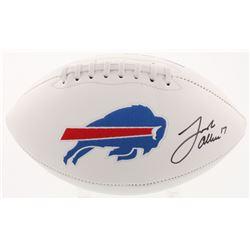 Josh Allen Signed Buffalo Bills Logo Football (Beckett COA)