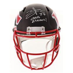 "Travis Kelce Signed Kansas City Chiefs AMP Alternate Full-Size Speed Helmet Inscribed ""Chiefs Kingdo"