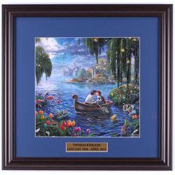 "Thomas Kinkade Walt Disney's ""The Little Mermaid"" 18x18.5 Custom Framed Print Display"