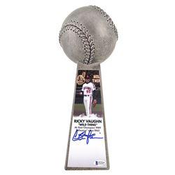 "Charlie Sheen Signed ""Major League"" Cleveland Indians 14"" Championship Baseball Trophy (Beckett COA)"