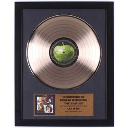 """The Beatles 15.75x19.75 Custom Framed Gold Plated """"Let It Be"""" Record Album Award Display"""
