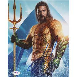 """Jason Momoa Signed """"Aquaman"""" 8x10 Photo (PSA COA)"""