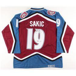 "Joe Sakic Signed Avalanche Captain Jersey Inscribed ""HOF 12"" (JSA COA)"