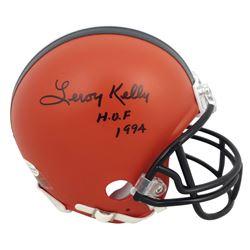 "Leroy Kelly Signed Browns Mini Helmet Inscribed ""H.O.F 1994"" (Beckett COA)"
