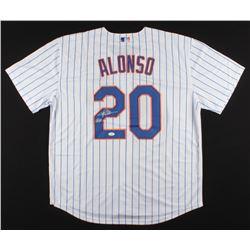 "Pete Alonso Signed Mets Jersey Inscribed ""LFGM"" (JSA COA)"
