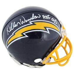 "Kellen Winslow Signed Chargers Throwback Mini Helmet Inscribed ""HOF 95"" (Beckett COA  Prova Hologram"