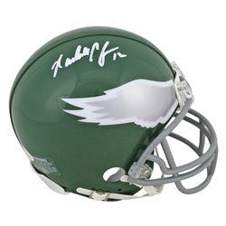 Randall Cunningham Signed Eagles Throwback Mini Helmet (Beckett COA)