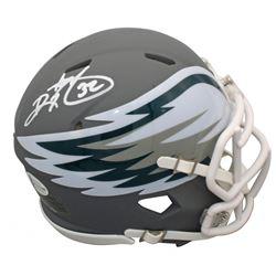 Ricky Watters Signed Eagles AMP Alternate Speed Mini Helmet (Beckett COA)