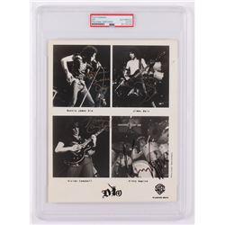 "Ronnie James Dio, Vivian Campbell, Jimmy Bain,  Vinny Appice Signed ""Dio"" 8x10 Photo (PSA Encapsulat"