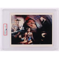 """Carrie Fisher, Michael Carter  Anthony Daniels Signed """"Star Wars VI: Return of the Jedi"""" 8x10 Photo"""