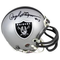 Daryle Lamonica Signed Raiders Mini Helmet (Beckett COA)
