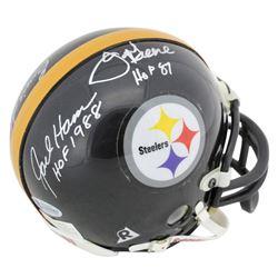 Jack Ham, Ernie Stautner  Joe Greene Signed Steelers Mini Helmet with Multiple Inscriptions (Beckett