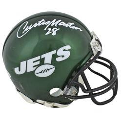 Curtis Martin Signed Jets Mini Helmet (Beckett COA)