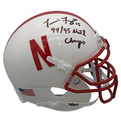 "Tommie Frazier Signed Nebraska Cornhuskers Mini Helmet Inscribed ""94/95 Nat'l Champs"" (Beckett COA)"
