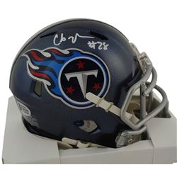 Chris Johnson Signed Titans Speed Mini Helmet (Beckett COA)